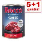 5 + 1 Gratis! Rocco hrana za pse 6 x 400 g