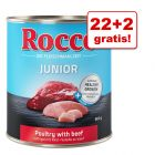 22 + 2 gratis! Rocco Junior, 24 x 400 g / 800 g
