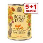 5 + 1 gratis! Rosie's Farm Adult 6 x 400 g hrană ca odinioară