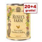 20 + 4 gratis! Rosie's Farm, 24 x 400 g