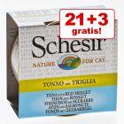 21 + 3 gratis! Schesir conserve în supă de carne 24 x 70 g