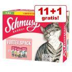 11 + 1 gratis! Schmusy Ragout în gelatină Mix