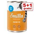 5 + 1 gratis! Smilla Geflügel- und Rindtöpfchen 6 x 400 g