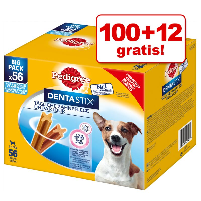 100 + 12 gratis! 112 stk. Pedigree DentaStix