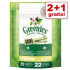 2 + 1 gratis! 3 stuks Greenies Gebitsverzorgende-Kauwsnacks