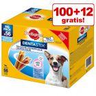 100 + 12 gratis! 112 Stuks Pedigree Dentastix Dagelijkse Gebitsverzorging