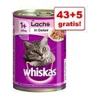 43 + 5 gratis! Whiskas Adult, puszki, 48 x 400 g