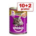 10 + 2 gratis! Whiskas 1+ pločevinke 12 x 400 g