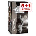 5 + 1 gratis! Wild Freedom Adult Tăvițe 6 x 85 g