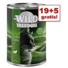 19 + 5 gratis! Wild Freedom Adult, 24 x 400 g