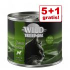 5 + 1 gratis! Wild Freedom hrană umedă pisici 6 x 200 / 400 g