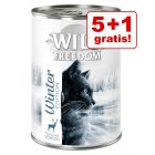 5 + 1 gratis! Winter Edition: Wild Freedom Cerb & pui 6 x 400 g