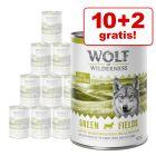 10 + 2 gratis! Wolf of Wilderness Adult 12 x 400 g