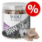 2 + 1 gratis! Wolf of Wilderness  RAW - Frysetørket premiumsnacks