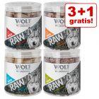 3 + 1 gratis! Wolf of Wilderness - RAW Snacks