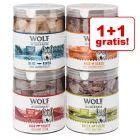 1 + 1 gratis! Wolf of Wilderness, 4 smaki, 2 x 280 g
