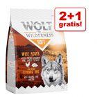 "2 + 1 gratis! Wolf of Wilderness ""Soft & Strong"", 3 x 1 kg"
