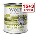 15 + 3 gratis! Wolf of Wilderness, 18 x 800 g