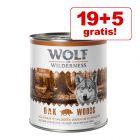 19 + 5 gratis! Wolf of Wilderness 24 x 800 g
