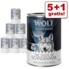 5 + 1 gratis! Wolf of Wilderness 6 x 400 g