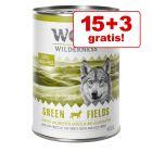 15 + 3 gratis! Wolf of Wilderness 18 x 800 g hrană umedă