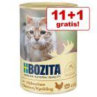 11 + 1 gratis! 12 x 410 Bozita conserve pisici