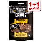 1 + 1 gratis! 2 x Crave Protein hundesnacks