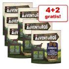 4 +2 gratis! 6 x 90 g AdVENTuROS Hondensnacks met Oergraan