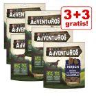 3 + 3 gratis! 6 x 90 g AdVENTuROS Hundesnacks