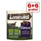 6 + 6 gratis! 12 x 90 g AdVENTuROS Hundesnacks med Urkorn