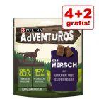 4 + 2 gratis! 6 x 90 g AdVENTuROS Hundesnacks mit Urkorn
