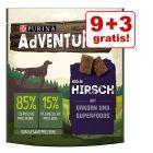 9 + 3 gratis! 12 x 90 g AdVENTuROS Snackuri pentru câini