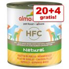 20 + 4 gratis! 24 x 280 / 290 g Almo Nature HFC Alimento umido per cani
