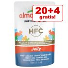20 + 4 gratis ! 24 x 55 g Almo Nature HFC Jelly Alimento umido per gatti