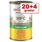 20 + 4 gratis! 24 x 140 g Almo Nature HFC Kattenvoer