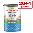 20 + 4 gratis! 24 x 140 g Almo Nature HFC Natural