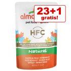 23 + 1 gratis! 24 x 55 g Almo Nature HFC Pliculețe