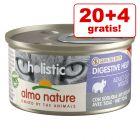 20 + 4 gratis! 24 x 85 g Almo Nature Holistic