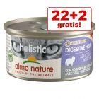 22 + 2 gratis! 24 x 85 g Almo Nature Holistic conserve pisici