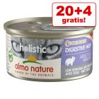 20 + 4 gratis! 24 x 85 g Almo Nature Holistic 2,04 kg