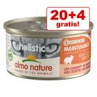 20 + 4 gratis! 24 x 85 g Almo Nature Holistic umido per gatti