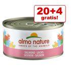 20 + 4 gratis! 24 x 70 g Almo Nature 1,68 kg