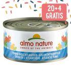 20 + 4 gratis! 24 x 70 g Almo Nature per gatti