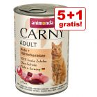 5 + 1 gratis 6 x 400 g Animonda Carny Adult
