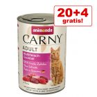 20 + 4 gratis! 24 x 400 g Animonda Carny Adult 9.6 kg