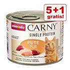5 + 1 gratis! 6 x 200 g Animonda Carny Single Protein Adult