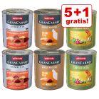 5 + 1 gratis! 6 x 800 g Animonda GranCarno Adult Monoproteico