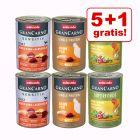 5 + 1 gratis! 6 x 400 g Animonda GranCarno Adult Monoproteico assortito