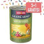 5 + 1 gratis! 6 x 400 g Animonda GranCarno Adult Superfoods