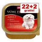 22 + 2 gratis! 24 x 150 g Animonda vom Feinsten